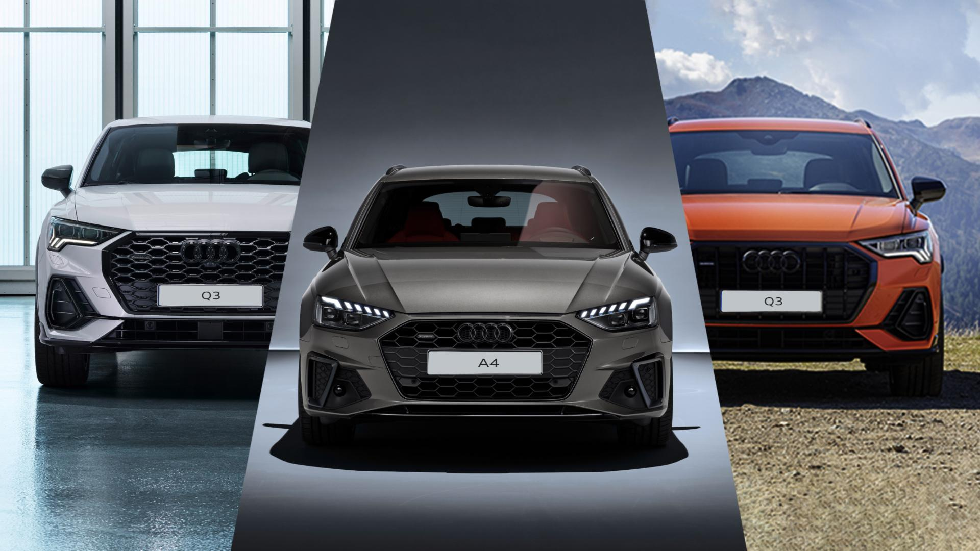 Limitovná nabídka vozů Audi A4, Q3 a Q3 Sportback.