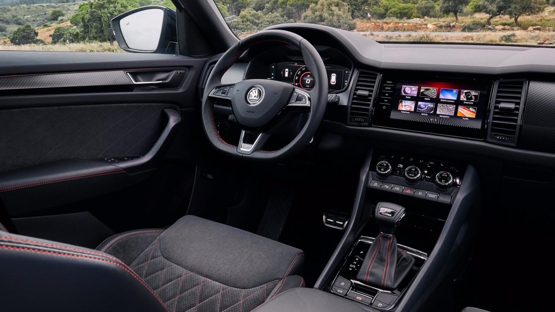 Škoda Kodiaq RS: interiér