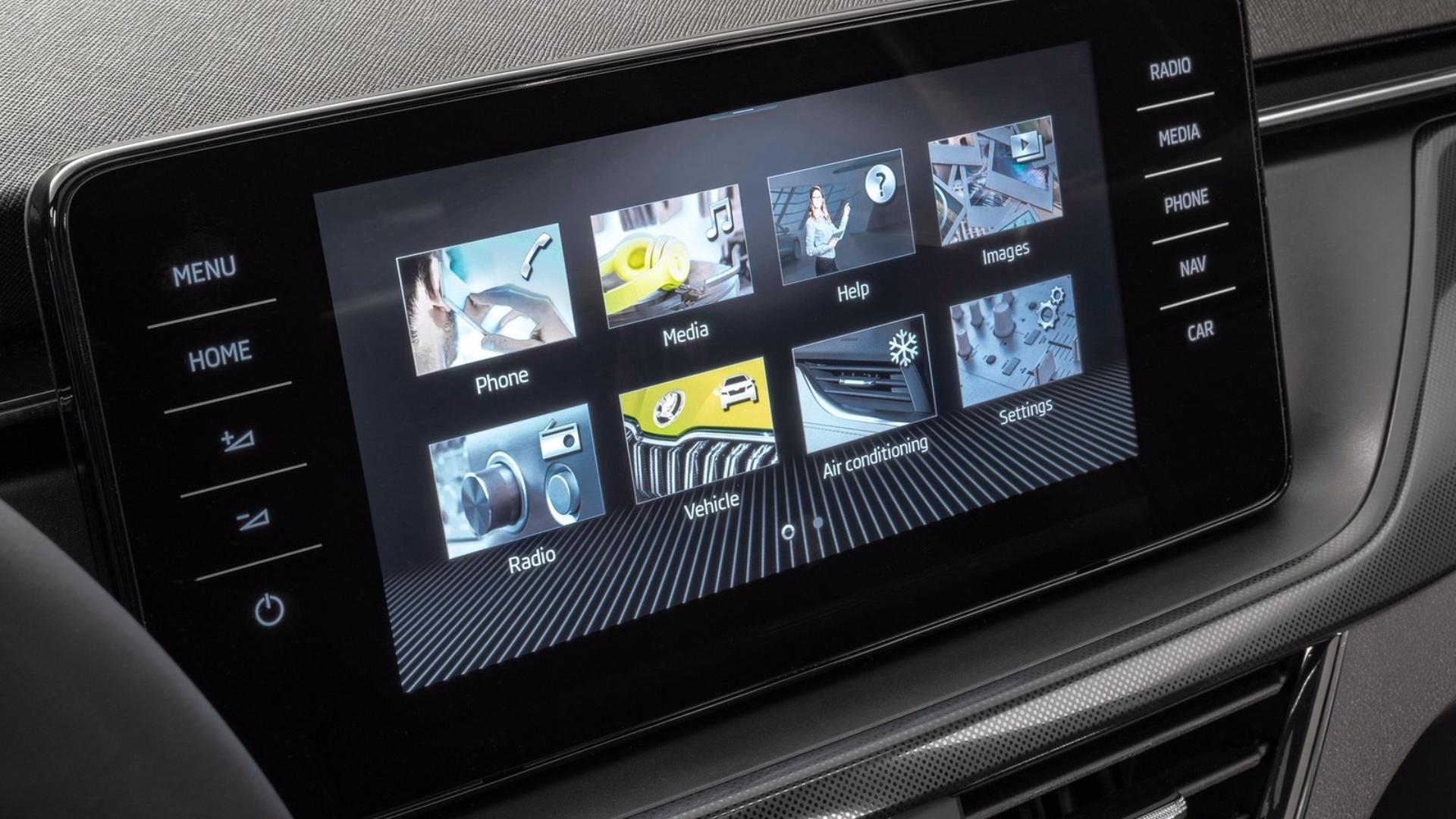 Nová Škoda Kamiq- Infotainment systém