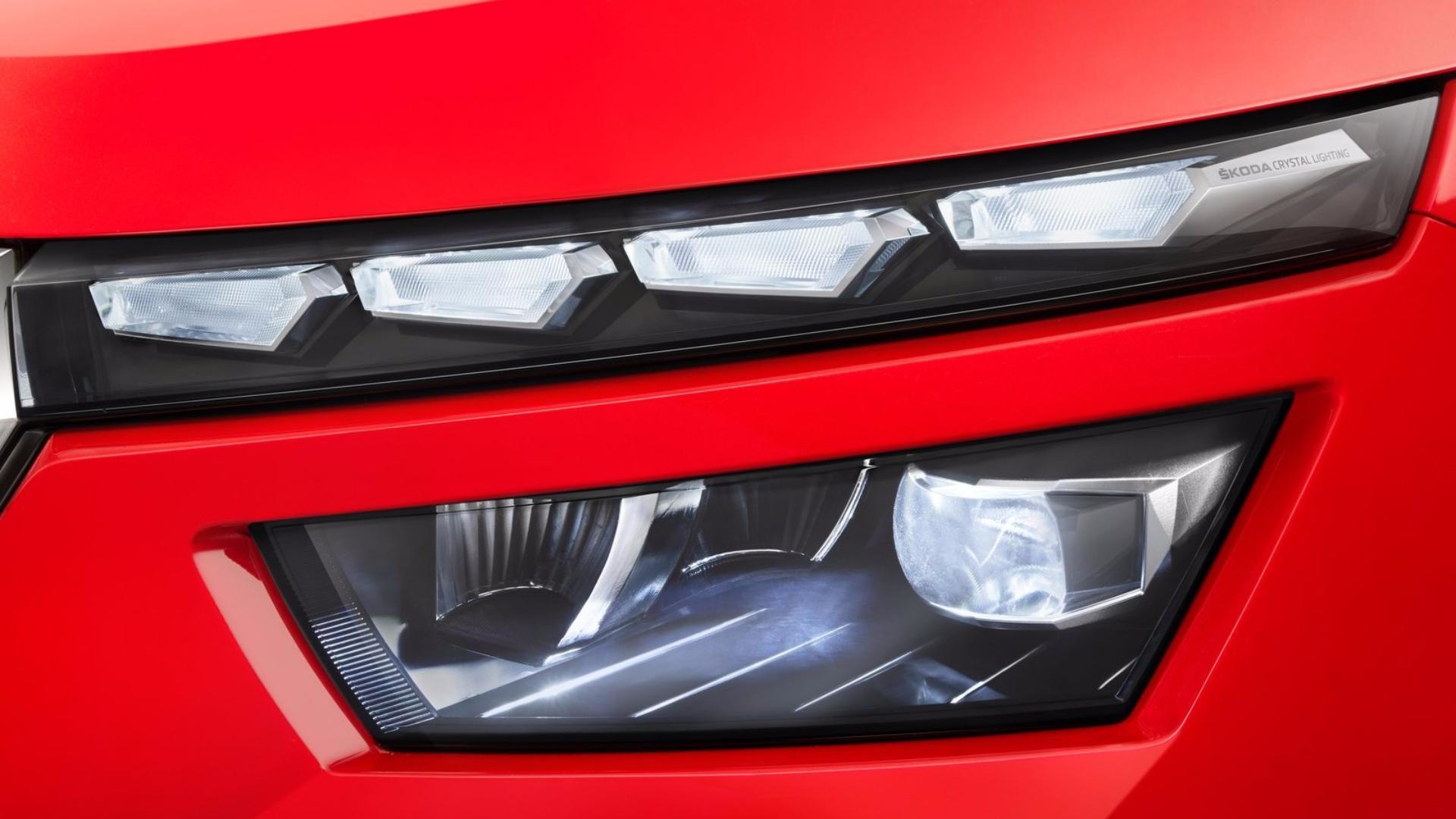 Nová Škoda Kamiq - přední světlomety